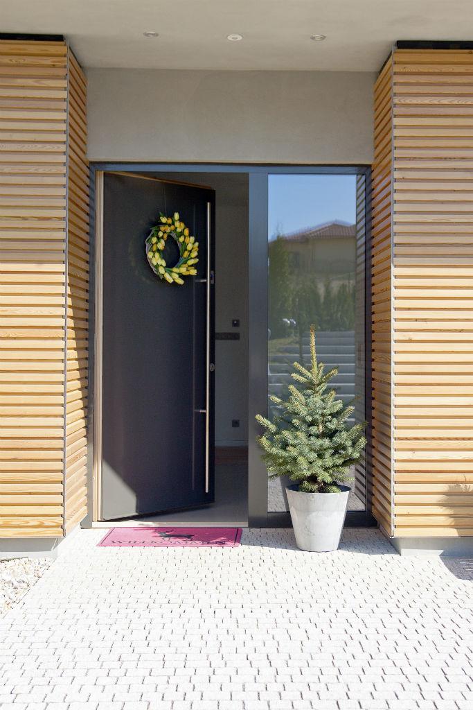 Makrowin vchodové dvere drevo – hliník
