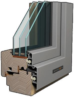 Drevo-hliníkové okno Makrowin Classic